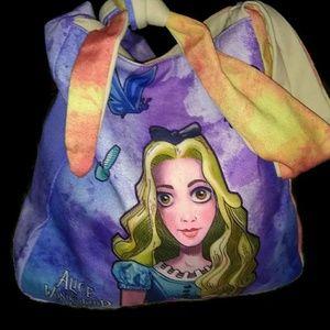 Alice in Wonderland canvas purse